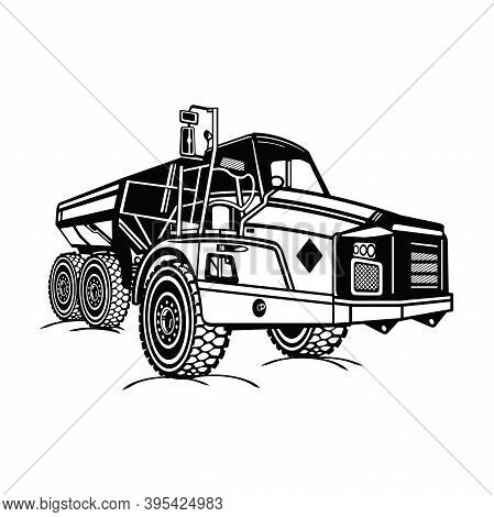 Detailed Dump Truck - Industrial Dump Truck Dumper Equipment Builder Building Build