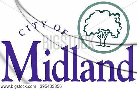 3d Emblem Of Midland (michigan), Usa. 3d Illustration.