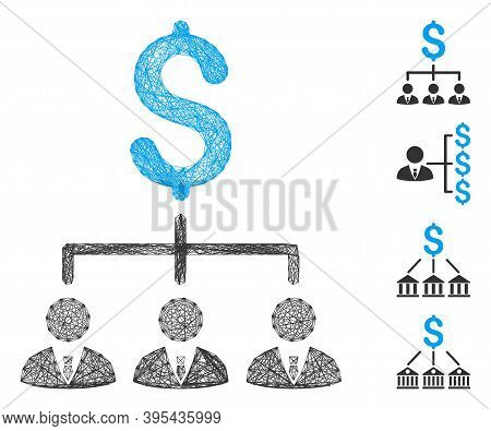 Vector Wire Frame Banker Links. Geometric Wire Frame Flat Net Generated With Banker Links Icon, Desi