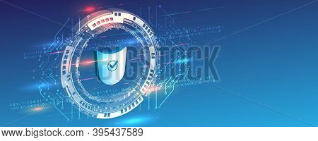 3d Digital Security And Network Protection. Cyber Security For Internet Projects. Antivirus Technolo