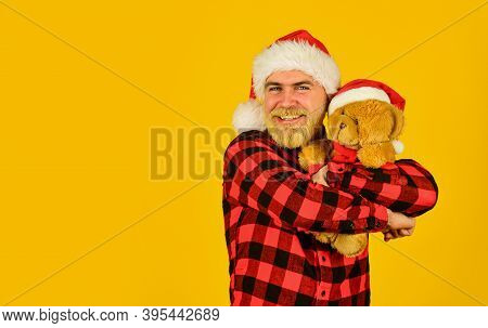 Santa Claus. Mature Man With Long Beard. Christmas Spirit. Christmas Time For Mercy. Charity Project