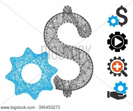 Vector Wire Frame Payment Options. Geometric Wire Frame 2d Net Generated With Payment Options Icon,