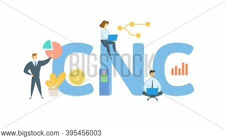 Cnc, Currently Not Collectible. Concept With Keywords, People And Icons. Flat Vector Illustration. I
