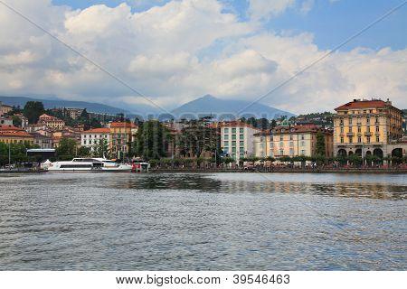 Embankment Of The City Of Lugano