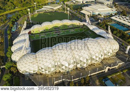 Melbourne, Australia - Nov 15, 2020: Aerial Photo Of Aami Park, An Sports Stadium In Melbourne