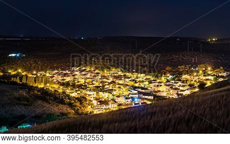 Village Near Elvas At Night. Alentejo, Portugal