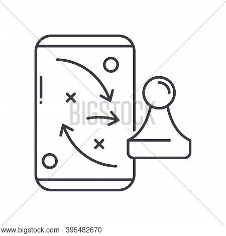 Success Tactics Icon, Linear Isolated Illustration, Thin Line Vector, Web Design Sign, Outline Conce