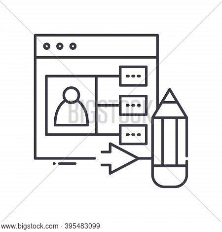 User Generated Content Icon, Linear Isolated Illustration, Thin Line Vector, Web Design Sign, Outlin