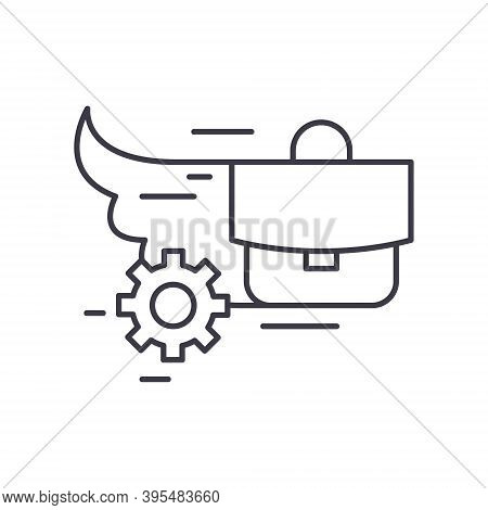 Urgent Task Icon, Linear Isolated Illustration, Thin Line Vector, Web Design Sign, Outline Concept S