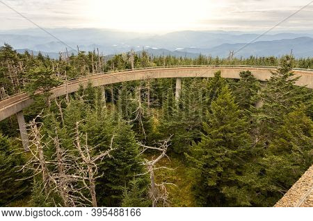 Clingmans Dome, North Carolina; Usa; Sept. 23, 2020. A Unique View Point From The Top Of Clingmans D