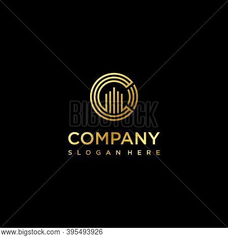 Real Estate Logo. Skyscrapers Circle Luxury. Branding For Real Estate Broker Agent Marketing Develop