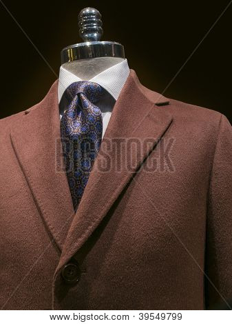 Brown Cashmere Coat (vertical)