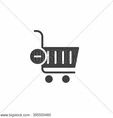 Delete From Shopping Cart Vector Icon. Filled Flat Sign For Mobile Concept And Web Design. Shopping