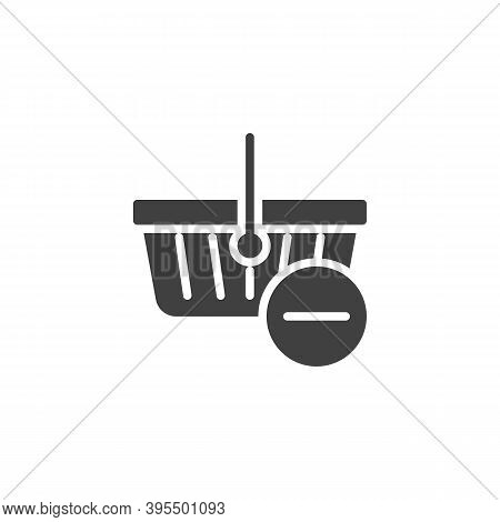 Delete From Shopping Basket Vector Icon. Filled Flat Sign For Mobile Concept And Web Design. Shoppin