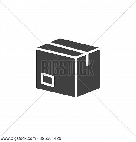 Delivery Box Vector Icon. Filled Flat Sign For Mobile Concept And Web Design. Cardboard Box, Parcel