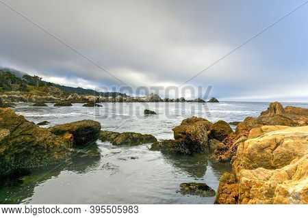 Weston Beach In Point Lobos State Natural Reserve Just South Of Carmel-by-the-sea, California, Unite