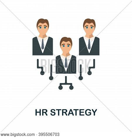 Hr Strategy Icon. Simple Element From Human Resources Collection. Creative Hr Strategy Icon For Web