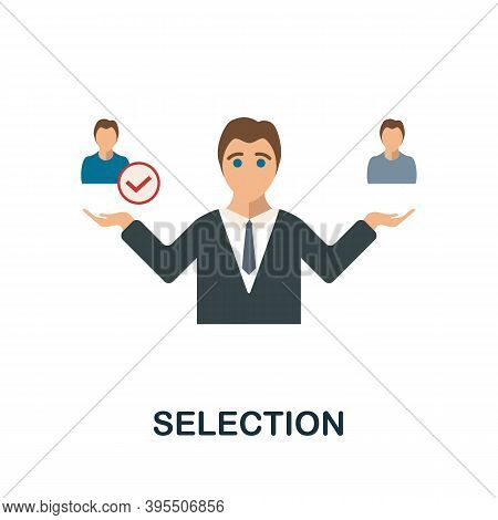 Selection Icon. Simple Element From Human Resources Collection. Creative Selection Icon For Web Desi