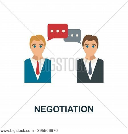 Negotiation Icon. Simple Element From Human Resources Collection. Creative Negotiation Icon For Web