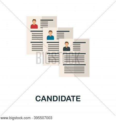 Candidate Icon. Simple Element From Human Resources Collection. Creative Candidate Icon For Web Desi