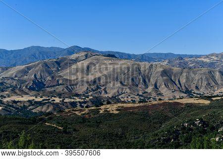Vista Point Over Santa Ynez Valley In Santa Barbara, California, Usa