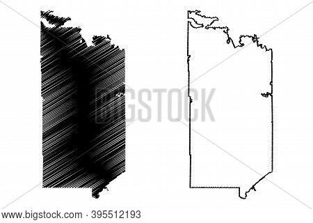 St. Louis County, Minnesota (u.s. County, United States Of America, Usa, U.s., Us) Map Vector Illust