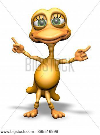 Fun Duck - Animated Cartoon 3d Character