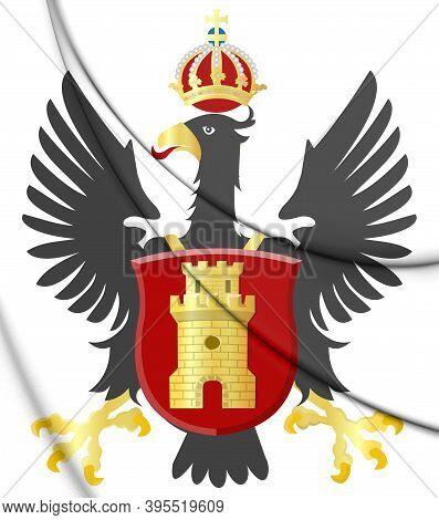3d Middelburg Coat Of Arms (zeeland), Netherlands. 3d Illustration.