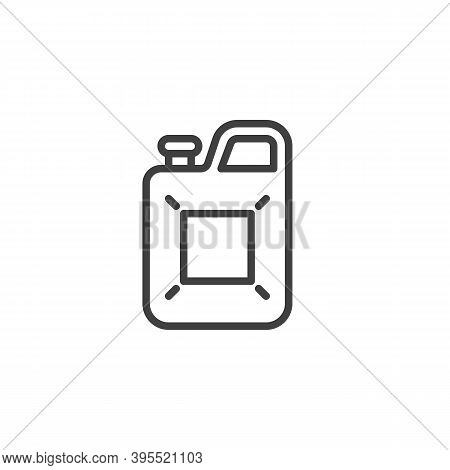 Gasoline Canister Line Icon. Linear Style Sign For Mobile Concept And Web Design. Jerry Can, Caniste