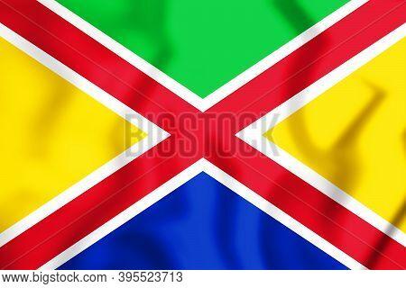 3d Flag Of Steenbergen (north Brabant), Netherlands. 3d Illustration.