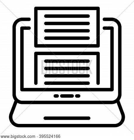 Store Online Ebook Icon. Outline Store Online Ebook Vector Icon For Web Design Isolated On White Bac