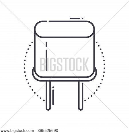 Crystal Conductor Icon, Linear Isolated Illustration, Thin Line Vector, Web Design Sign, Outline Con