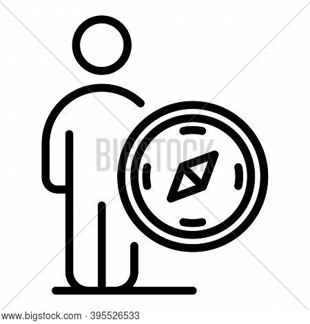 Mentor Teach Navigation Icon. Outline Mentor Teach Navigation Vector Icon For Web Design Isolated On