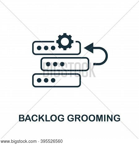 Backlog Grooming Icon. Simple Element From Agile Method Collection. Filled Backlog Grooming Icon For