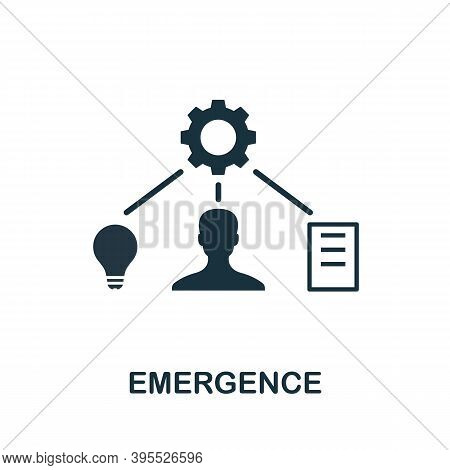 Emergence Icon. Simple Element From Agile Method Collection. Filled Emergence Icon For Templates, In