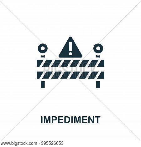 Impediment Icon. Simple Element From Agile Method Collection. Filled Impediment Icon For Templates,