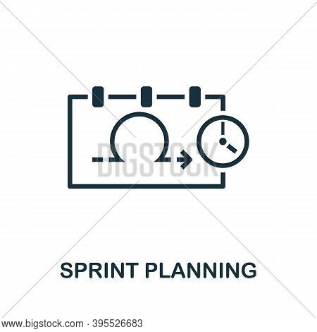 Sprint Planning Icon. Simple Element From Agile Method Collection. Filled Sprint Planning Icon For T