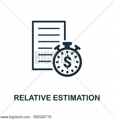 Relative Estimation Icon. Simple Element From Agile Method Collection. Filled Relative Estimation Ic