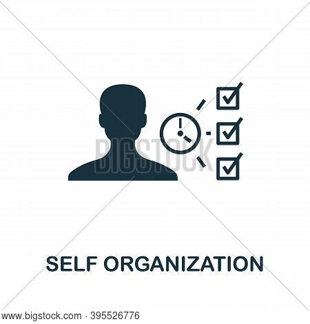 Self Organization Icon. Simple Element From Agile Method Collection. Filled Self Organization Icon F