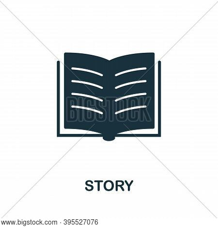 Story Icon. Simple Element From Agile Method Collection. Filled Story Icon For Templates, Infographi