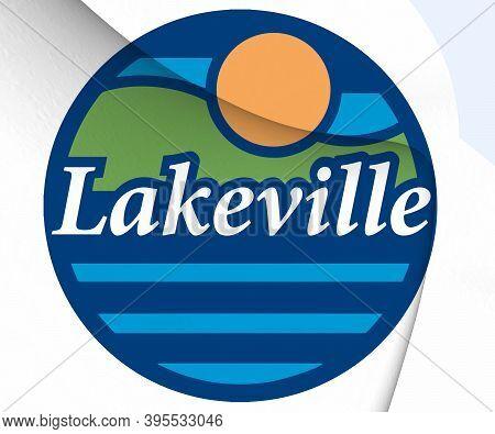 3d Seal Of Lakeville (minnesota), Usa. 3d Illustration.