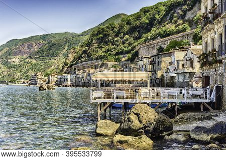 Beautiful Seascape In The Seaside Village Of Chianalea, Fraction Of Scilla, Calabria, Italy