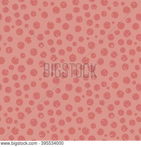 Tonal Pink Grunge Paint Spatter Textured Vector Seamless Pattern Background. Textural Organic Painte