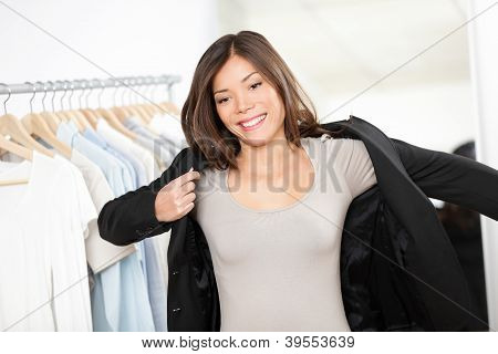 Woman Shopping Business Suit Clothes