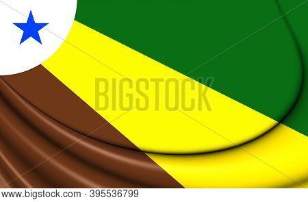 3d Flag Of Parauapebas (para), Brazil. 3d Illustration.
