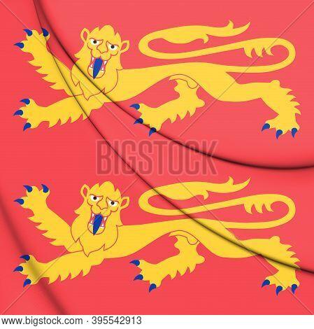 3d Flag Of Normandy, France. 3d Illustration.