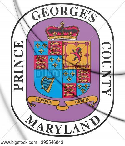 3d Seal Of Prince George's County (maryland), Usa. 3d Illustration.