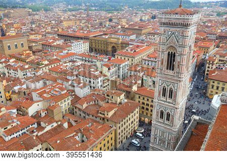 Florence, Italy. City View With Giotto's Campanile.