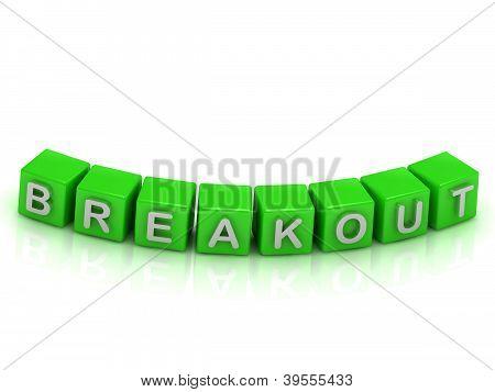 Iinscription Breakout A Green Cubes