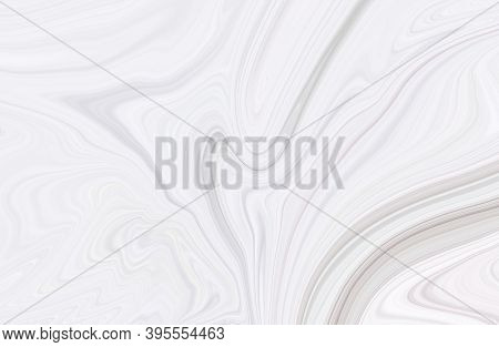 White Marble Texture Design, Minimal White Marbling Surface, Abstract Liquid Paint Marbled Fluid Wav